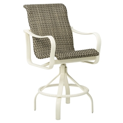 Tropitone Shoreline Woven Swivel Bar Stool - 961727WS-28