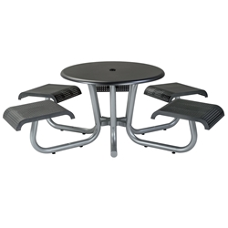"Tropitone District 42"" Round Picnic Table with 5 Backless Seats - ADA Compliant - 4C1642HF1"