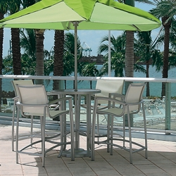 Tropitone South Beach Sling Outdoor Bar Set for 4 - TT-SOUTHBEACH-SET15