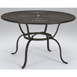 "Tropitone Cast Spectrum 55"" Round Counter Umbrella Table - 800154-34"