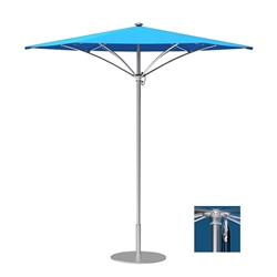 Tropitone Trace 8 Hexagon Patio Umbrella with Pulley Lift - RH008PS