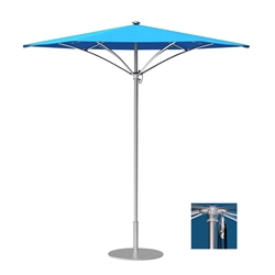 Tropitone Trace 9 Hexagon Patio Umbrella with Pulley Lift - RH009PS
