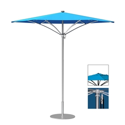 Tropitone Trace 9 Hexagon Patio Umbrella with Pulley Lift and Vent - RH009PSV