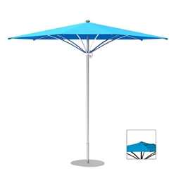 Tropitone Trace 10 Triangular Patio Umbrella with Manual Lift and Vent - RT010MSV