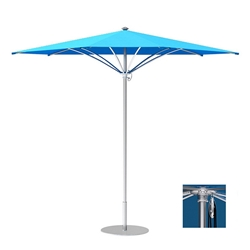 Tropitone Trace 12 Triangular Patio Umbrella with Pulley Lift - RT012PS