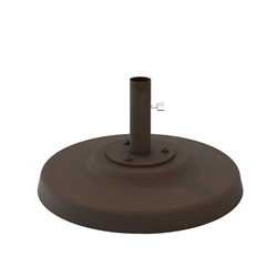 "Tropitone Cement Filled 20"" Round Aluminum Base for Under Table Use - 1.5"" Pole - CFA20R15T"