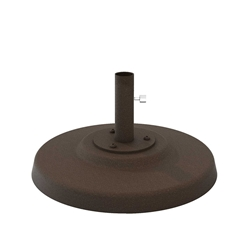 "Tropitone Cement Filled 24"" Aluminum Base for Under Table Use - 1.5"" Pole - CFA24R15T"