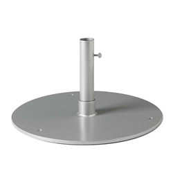 "Tropitone 20"" Round Steel Plate Umbrella Base for Under Table Use - 1.5"" Pole - SP20R15"