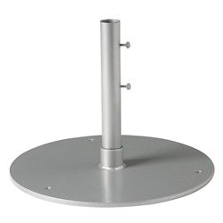 "Tropitone 24"" Round Steel Plate Umbrella Base for Free Standing Use - 1.5"" Pole - SP24R15F"