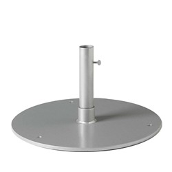 "Tropitone 24"" Round Steel Plate Umbrella Base for Under Table Use - 1.5"" Pole - SP24R15T"