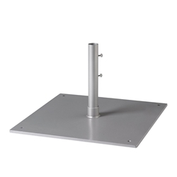 "Tropitone 24"" Square Steel Plate Umbrella Base for Free Standing Use - 1.5"" Pole - SP24S15F"
