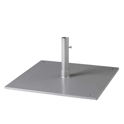 "Tropitone 24"" Square Steel Plate Umbrella Base for Under Table Use - 1.5"" Pole - SP24S15T"