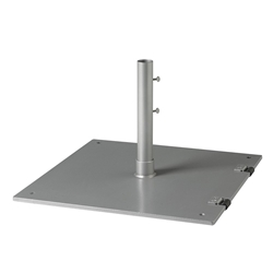 "Tropitone 24"" Square Steel Plate Base with Wheels - 1.5"" Pole - SP24S15WF"