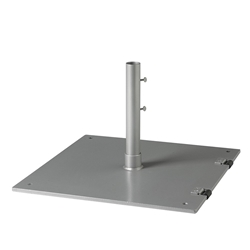 "Tropitone 24"" Square Steel Plate Base with Wheels - 2"" Pole - SP24S2W"