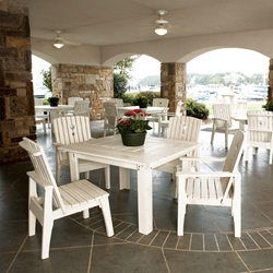 Uwharrie Chair Behrens Patio Dining Set for 4 - UW-BEHRENS-SET1