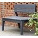Uwharrie Chair Behren's Two-Seat Bench with Back - B072