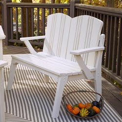 Uwharrie Chair Carolina Preserves Two-Seat Bench with Back - C072