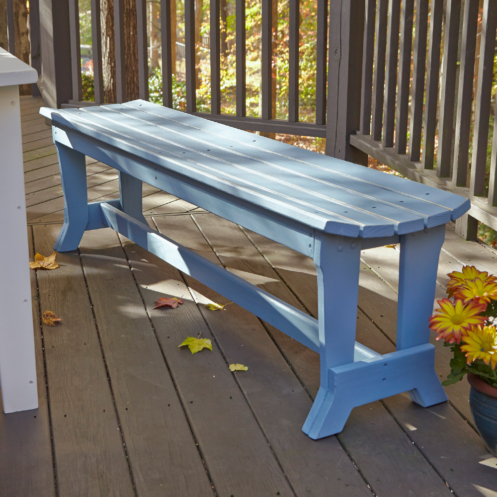 Uwharrie Chair Carolina Preserves Three-Seat Bench without Back - C098