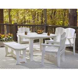 Uwharrie Chair Carolina Preserves Dining Set for 6 - UW-CAROLINA-SET2