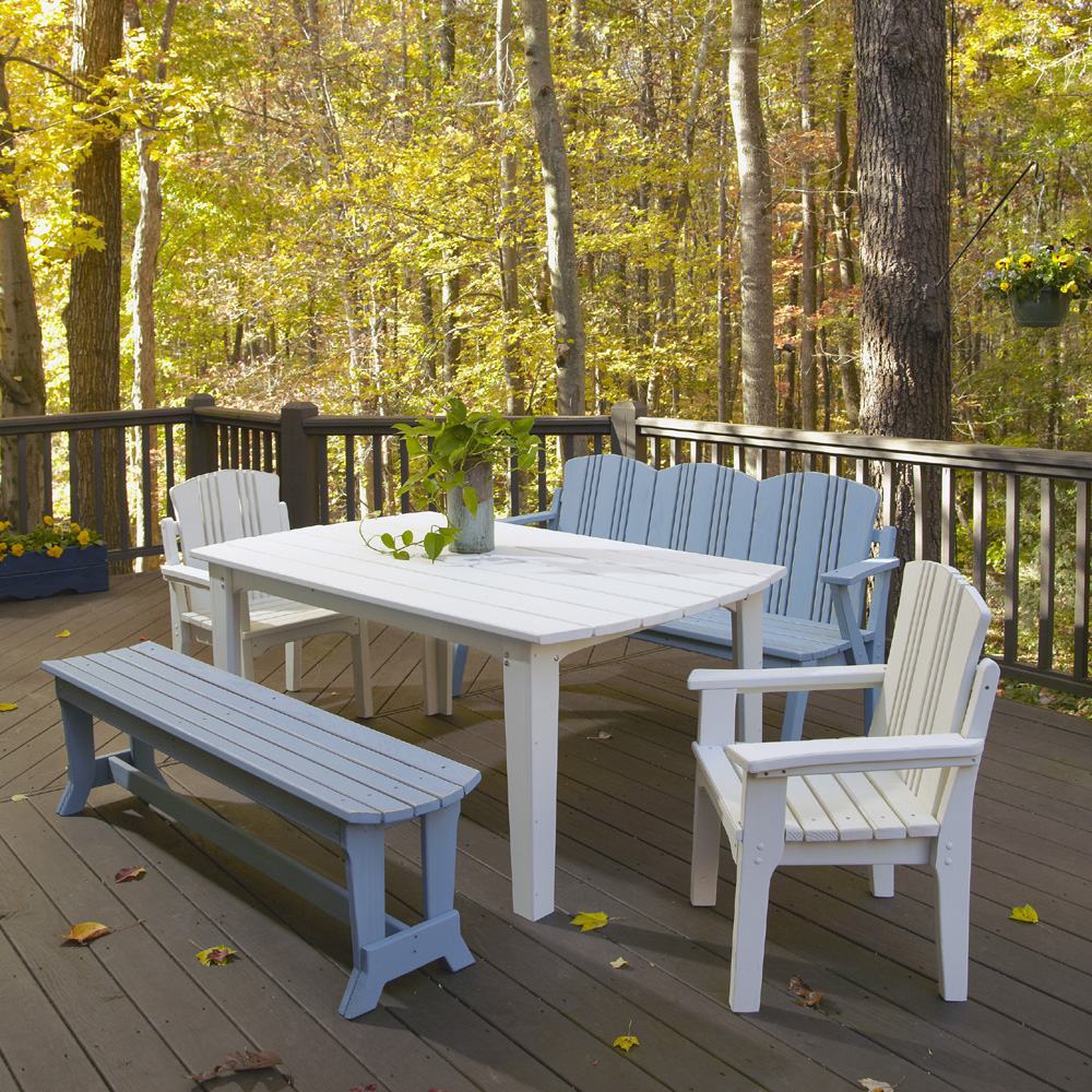 Uwharrie Chair Carolina Preserves Dining Set for 8 - UW-CAROLINA-SET3