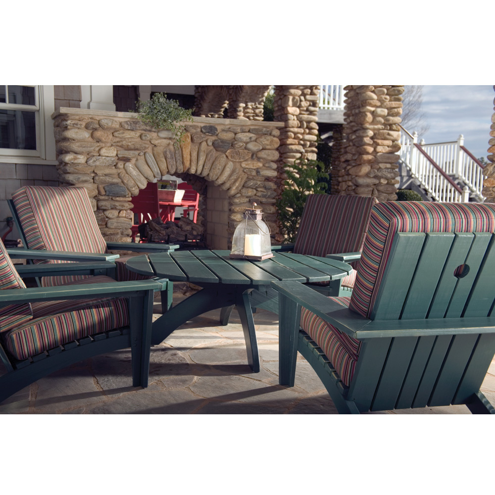 Uwharrie Chair Chat Patio Lounge Chair Set For 4   UW CHAT SET2