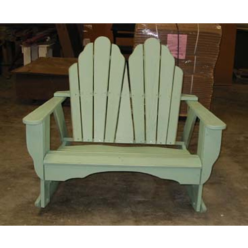 Uwharrie Chair Fanback Two-Seater Rocker - 4053