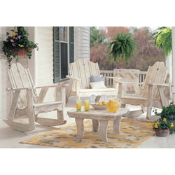 Uwharrie Chair Nantucket Porch Rocker Set w/ Settee - UW-NANTUCKET-SET1