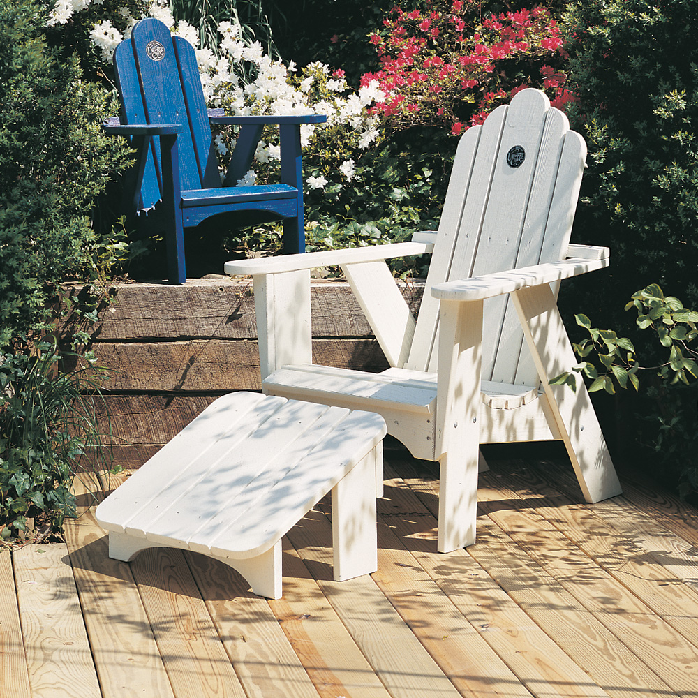 Captivating Uwharrie Chair Original Patio Lounge Set With Arm Chair And Footrest    UW ORIGINAL