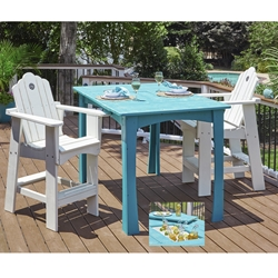 Uwharrie Chair Original Hi-Top Dining Set for 2 - UW-ORIGINAL-SET2