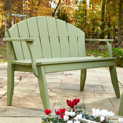Uwharrie Chair Plaza Two-Seat Bench with Back - P072