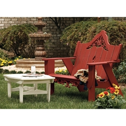 Uwharrie Chair Veranda Settee Set with Cocktail Table - UW-VERANDA-SET3