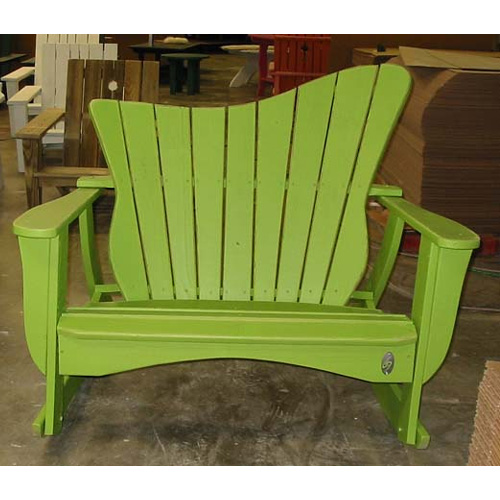 Uwharrie Chair Wave Two-Seater Rocker - 7053