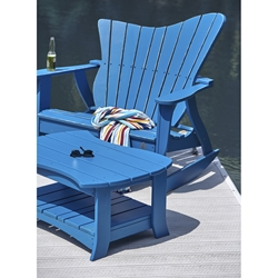 Uwharrie Chair Wave Two-Seater Rocker Set - UW-WAVE-SET3