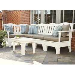 Uwharrie Chair Westport L-Shaped Patio Sectional Set - UW-WESTPORT-SET1