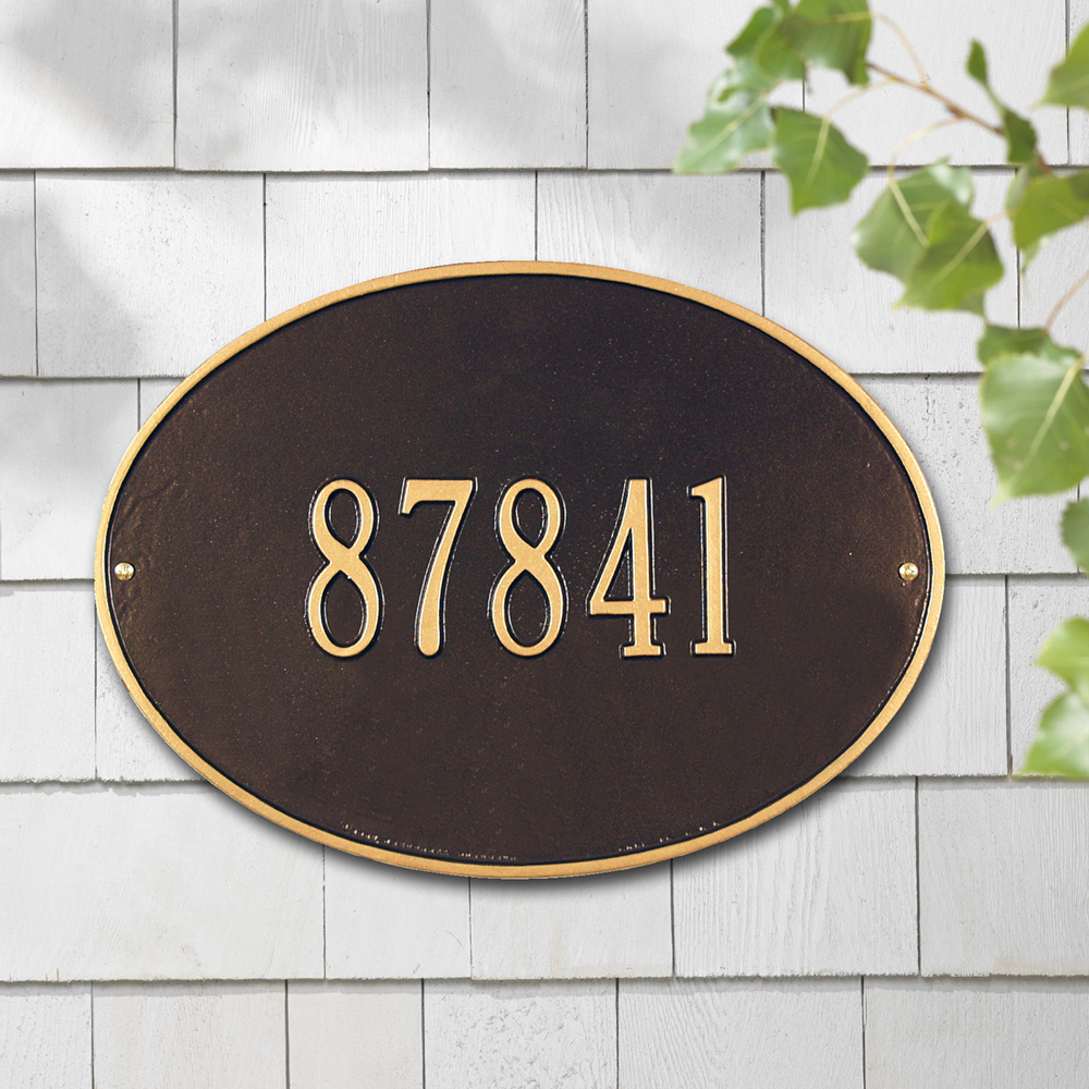 Whitehall Hawthorne Oval Standard Wall Address Plaque