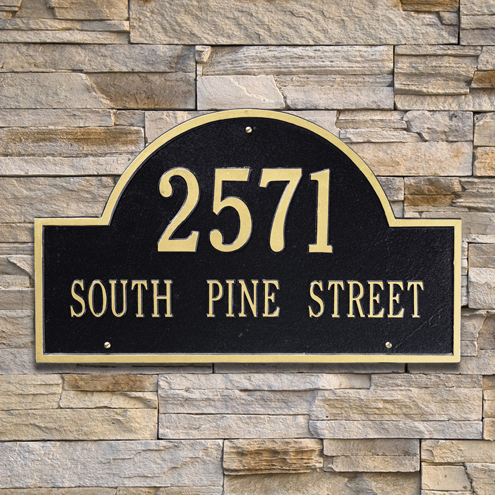 Whitehall Arch Marker Estate Wall Address Plaque Two