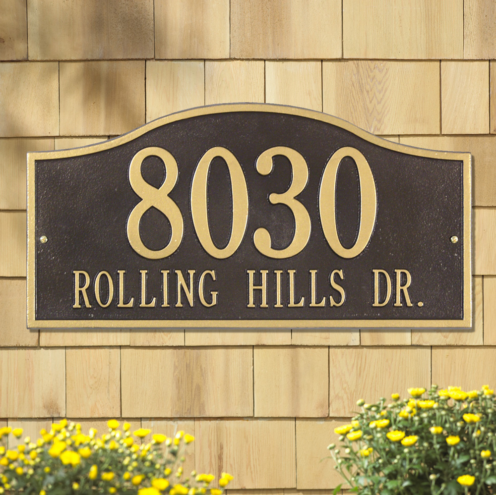 Whitehall Rolling Hills Plaques Grand Wall Address Plaque