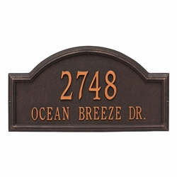 Whitehall Providence Arch Estate Wall Address Plaque - Two Line