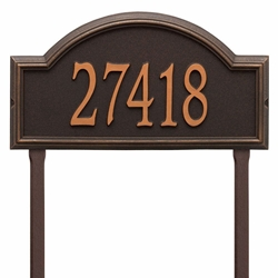 Whitehall Providence Arch Estate Lawn Address Plaque - One Line