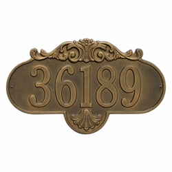 Whitehall Rochelle Grande Wall Address Plaque - One Line