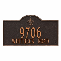 Whitehall Bayou Vista Estate Wall Address Plaque - Two Line