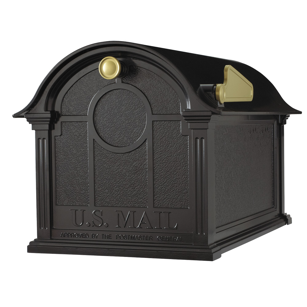 Whitehall Balmoral Mailbox  in Black