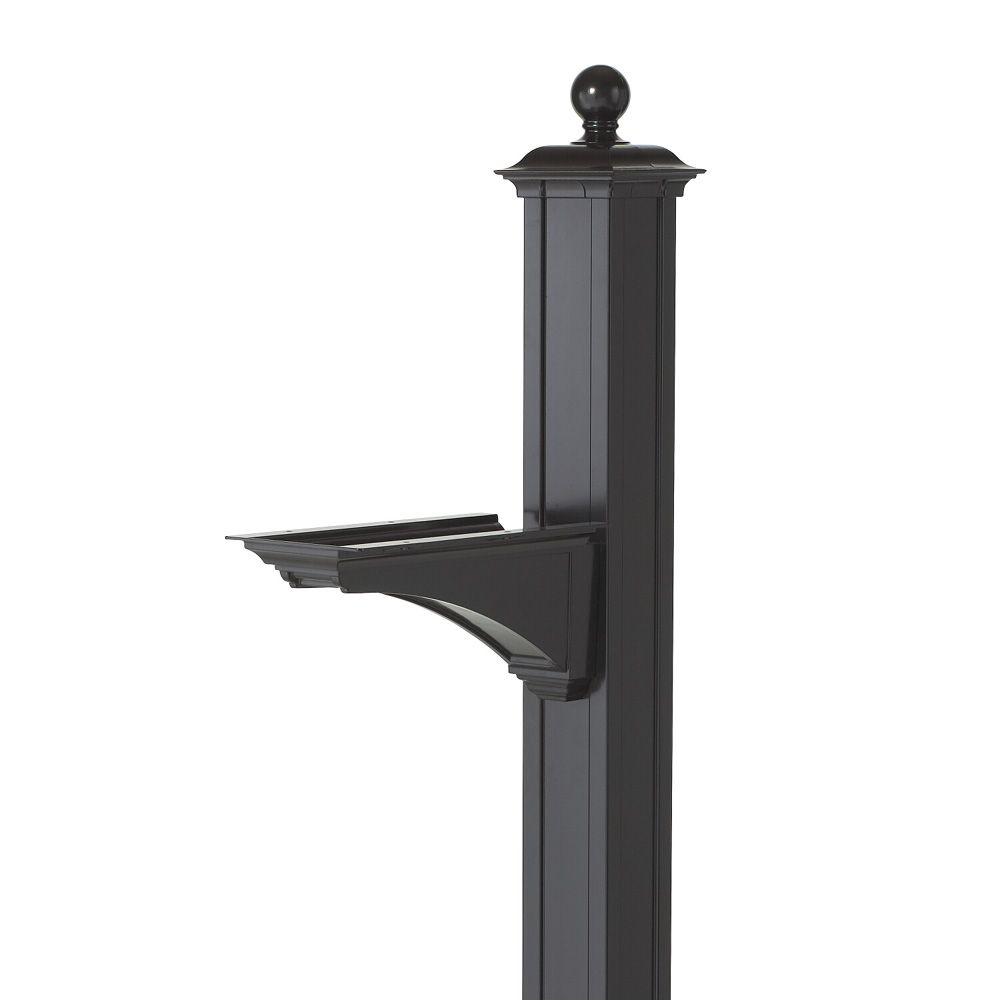 Whitehall Balmoral Mailbox Post & Bracket w/ Ball Finial