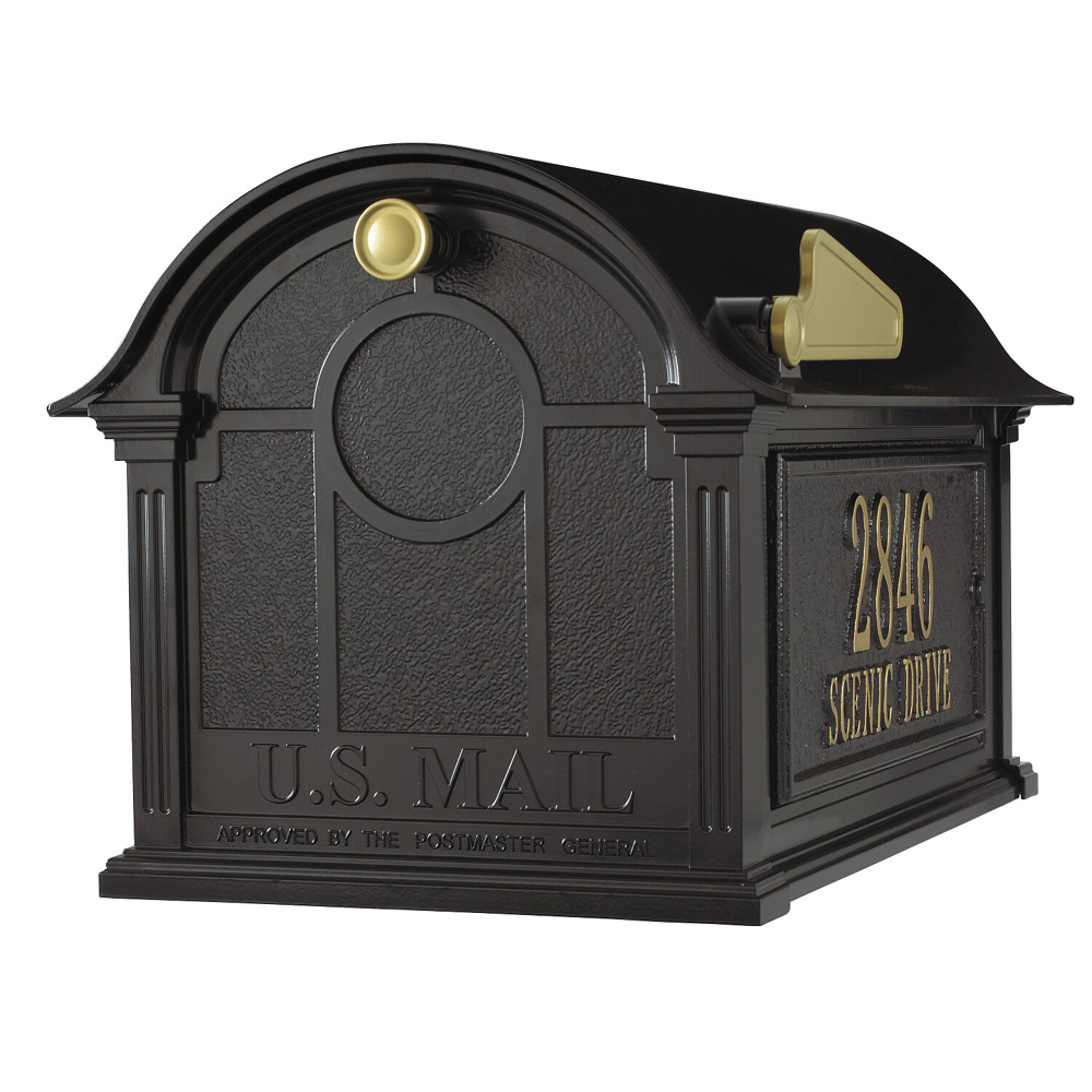 Whitehall Balmoral Mailbox Side Plaques Package in Black