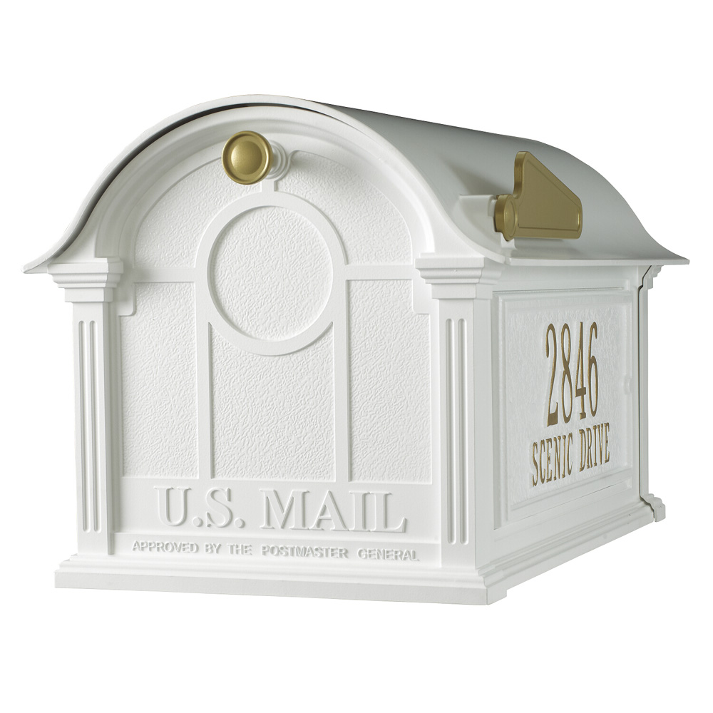 Whitehall Balmoral Mailbox Side Plaques Package in White