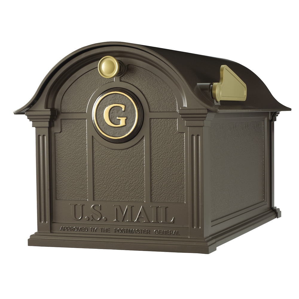Whitehall Balmoral Mailbox Monogram Package in Bronze