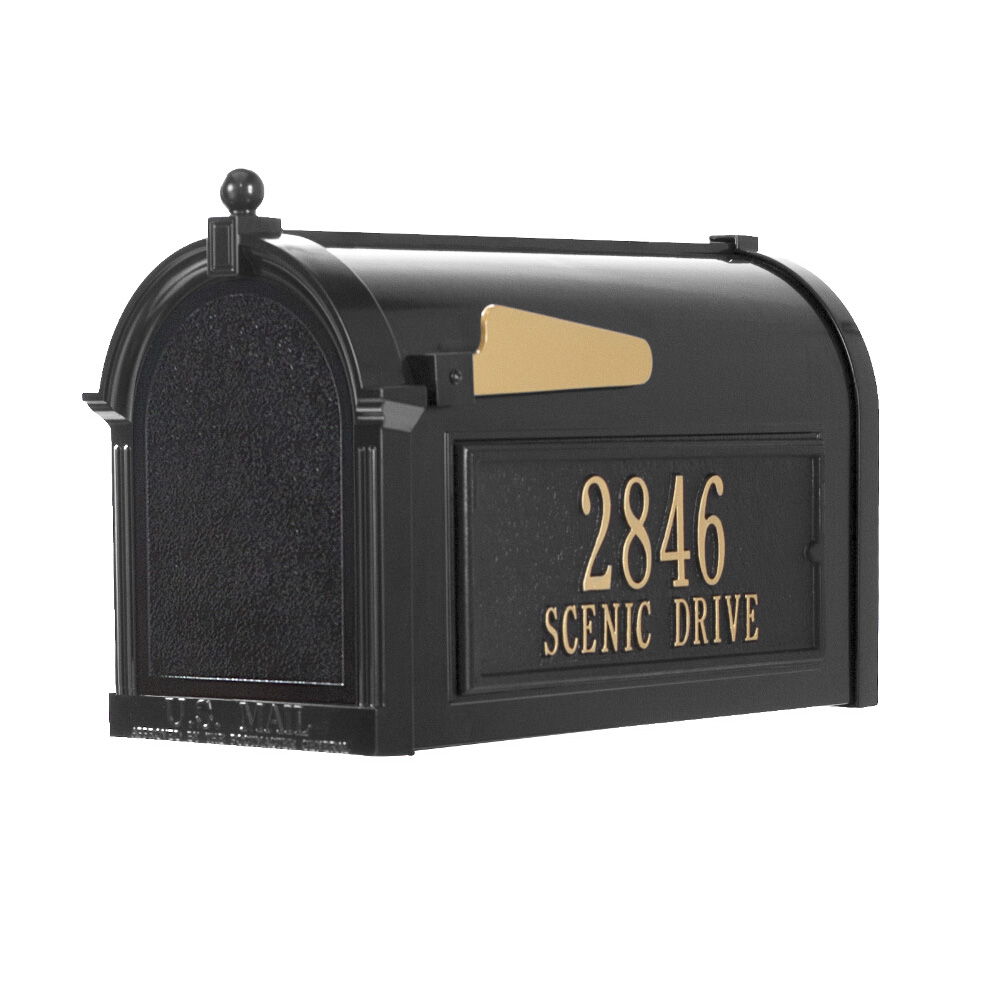 Whitehall Capitol Mailbox Side Plaque Package in Black