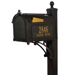 Whitehall Deluxe Capitol Mailbox Package in Bronze
