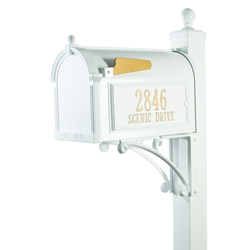 Whitehall Deluxe Capitol Mailbox Package in White