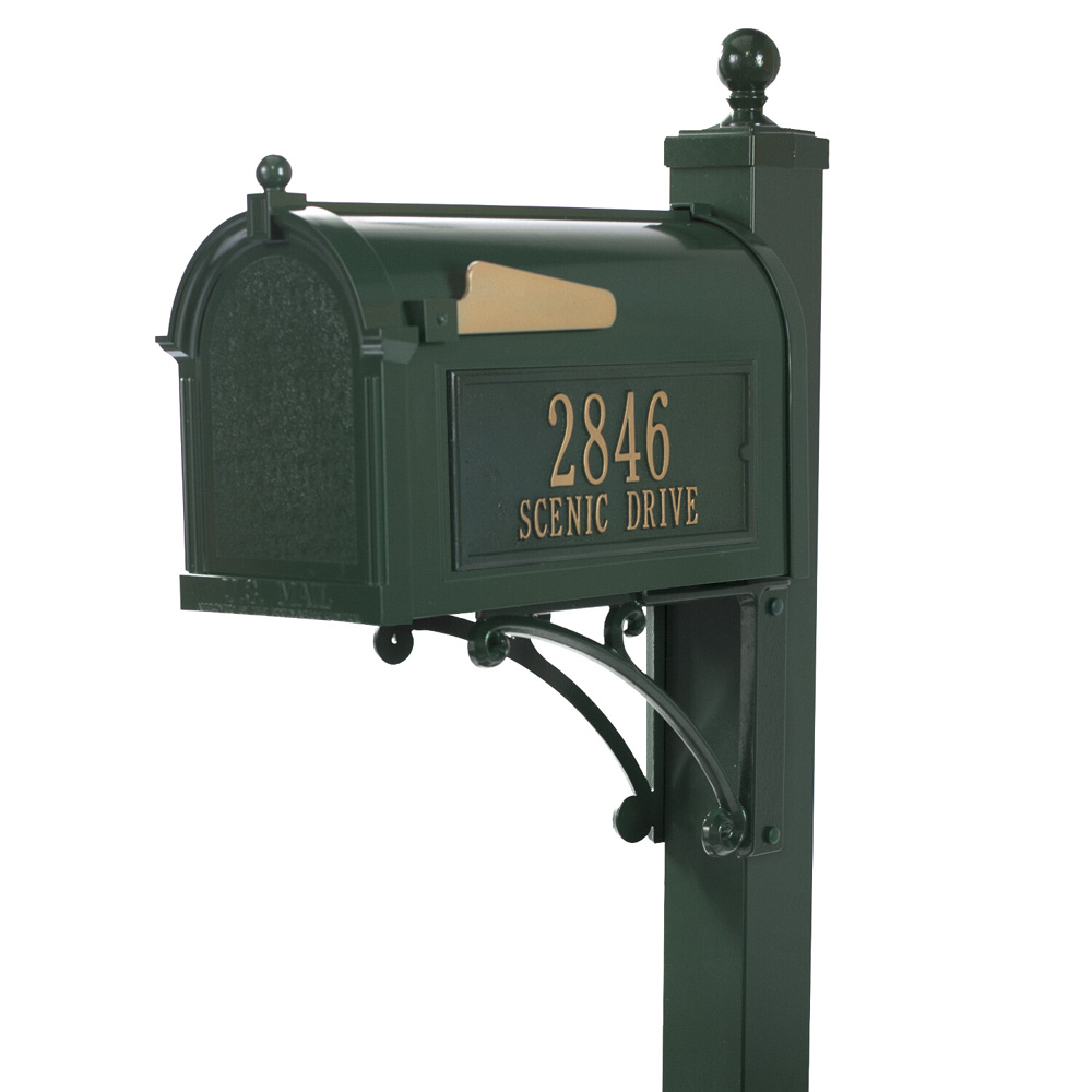 Whitehall Deluxe Capitol Mailbox Package in Green
